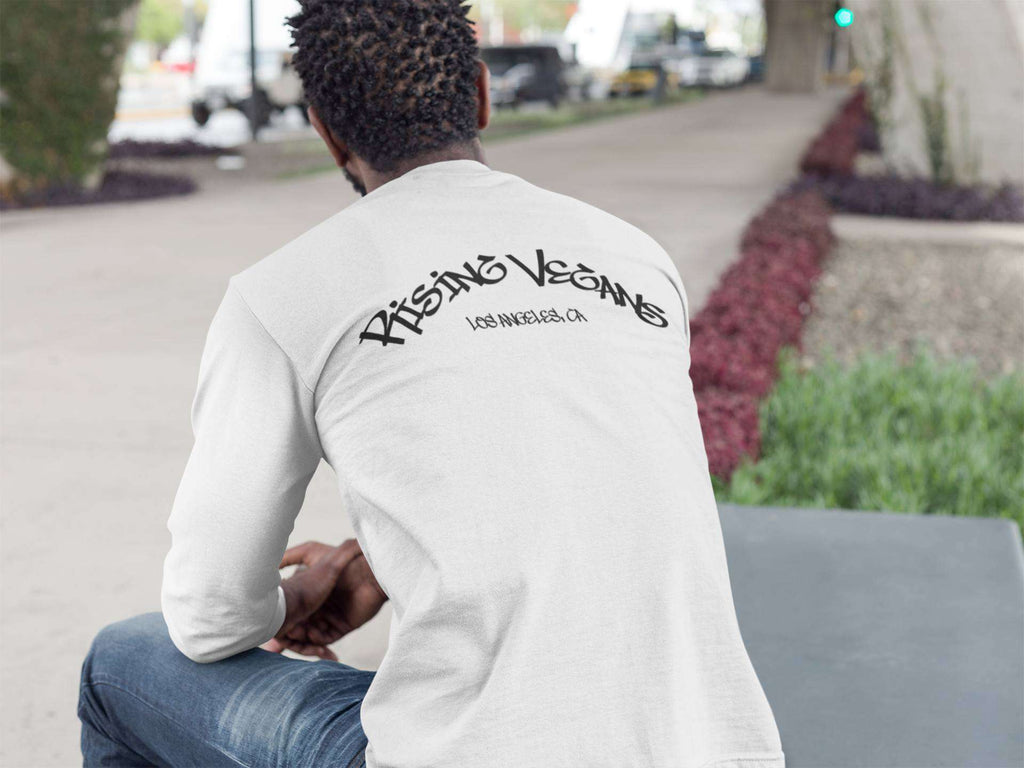 Men's Rising Vegans Long Sleeve LA Crew Tee - Rising Vegans