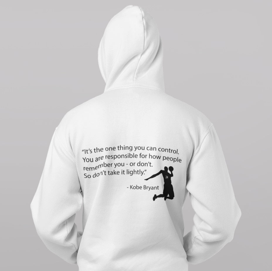 Remember Kobe Back Print Heavy Hoodie - Rising Vegans
