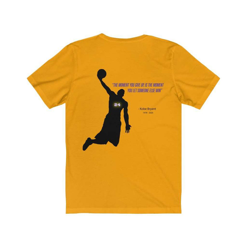 Kobe Don't Give Up Message Back Print Jersey Tee - Rising Vegans