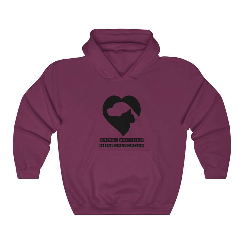 Men's Animal Adoption Is The Only Option Hoodie - Rising Vegans