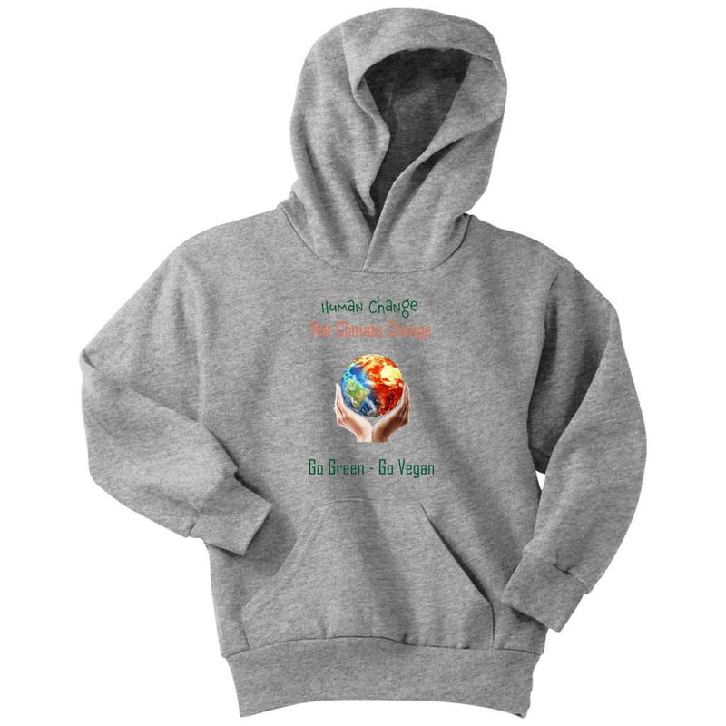 Climate Change Youth Hoodie - Rising Vegans
