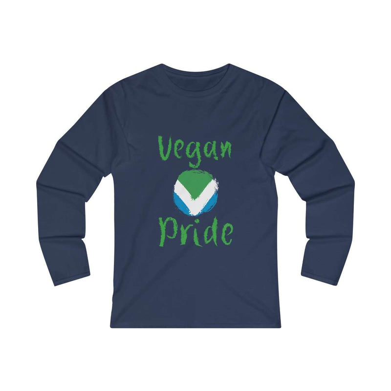 Women's Fitted Vegan Pride Long Sleeve Tee - Rising Vegans