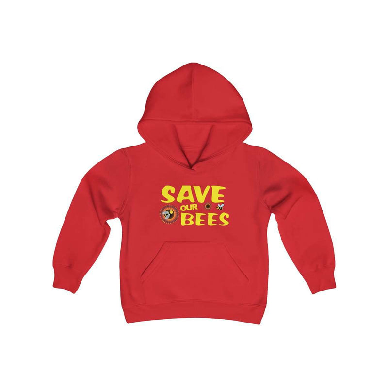 Kids Save our Bees Hooded Sweatshirt - Rising Vegans