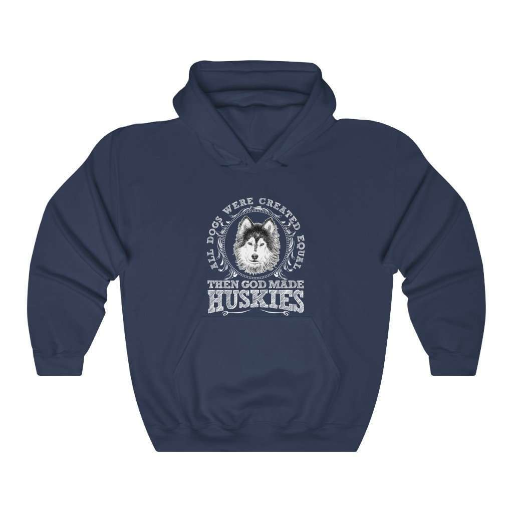Men's Then God Made Huskies Hoodie - Rising Vegans