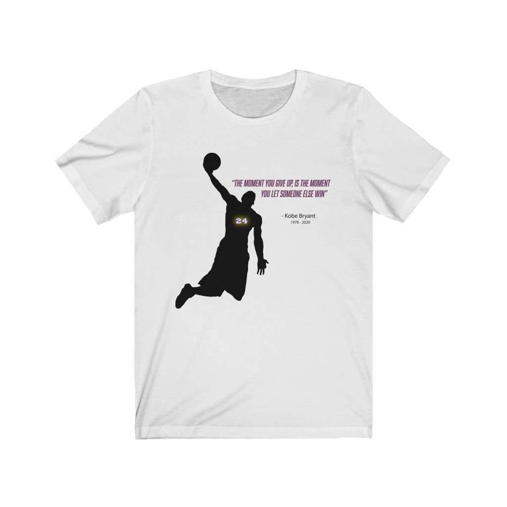 Kobe Don't Give Up Message Jersey Tee - Rising Vegans