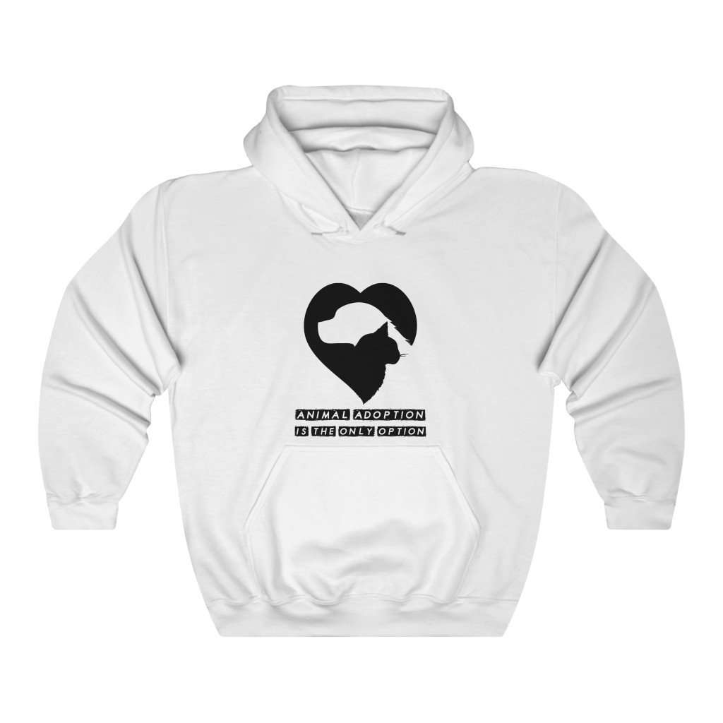 Animal Adoption Is The Only Option Hoodie - Rising Vegans
