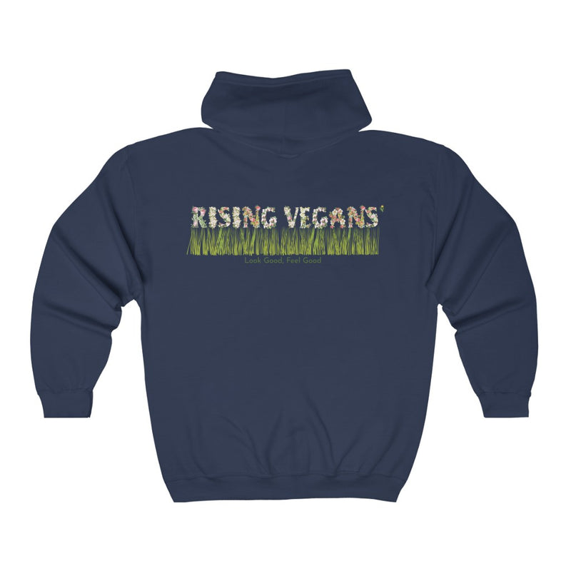 Bouquet Rising Vegans Zip Up Hoodie - Rising Vegans