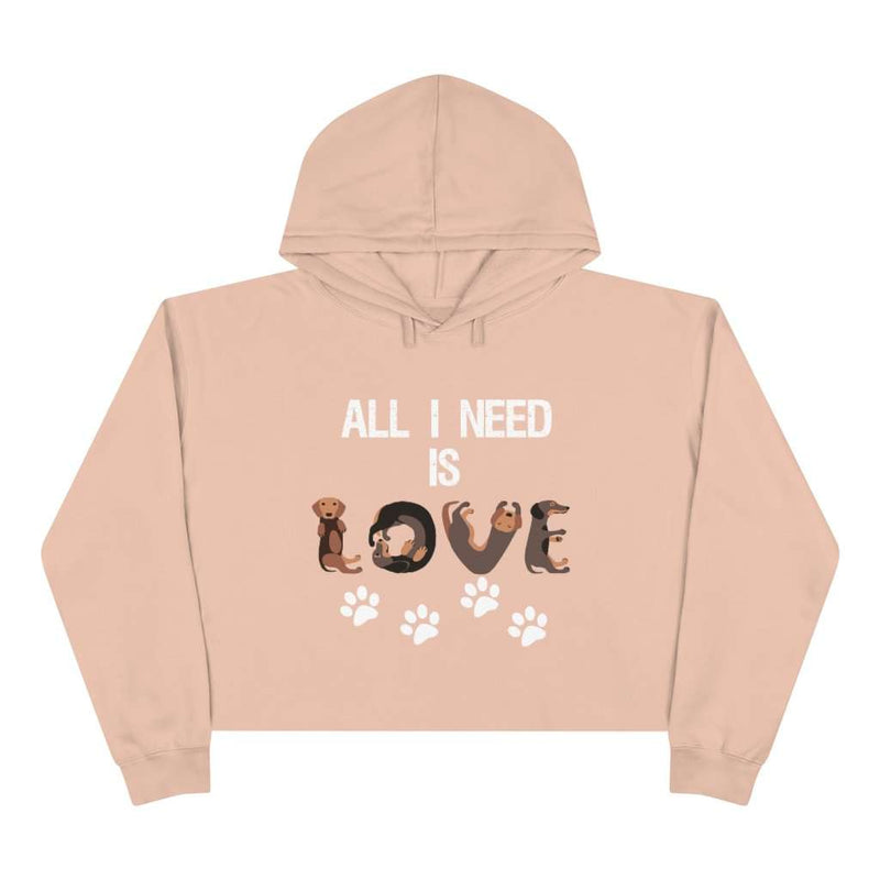 All I Need Is Dog Love Crop Hoodie - Rising Vegans