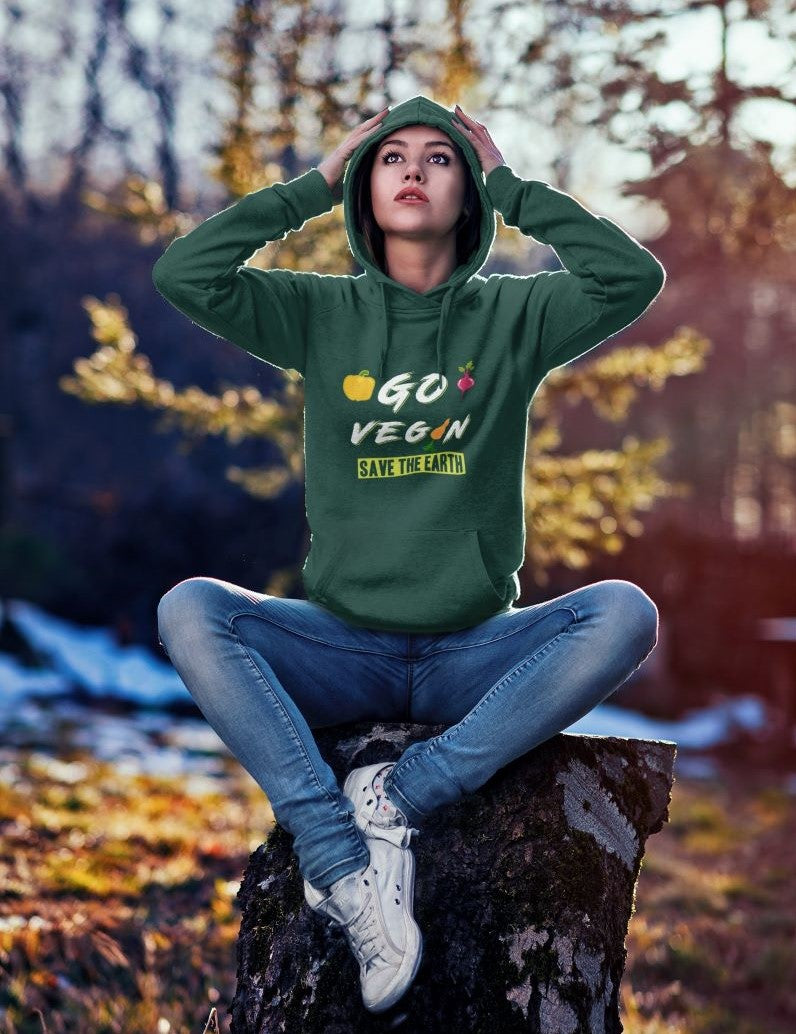 Go Vegan Save The Earth Hoodie - Rising Vegans