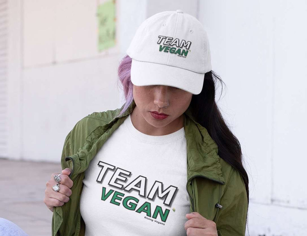 Team Vegan Twill Hat - Rising Vegans