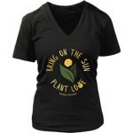Bring on the Sun V-Neck Tee - Rising Vegans