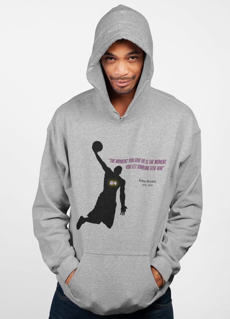 Kobe Don't Give Up Message Hoodie - Rising Vegans