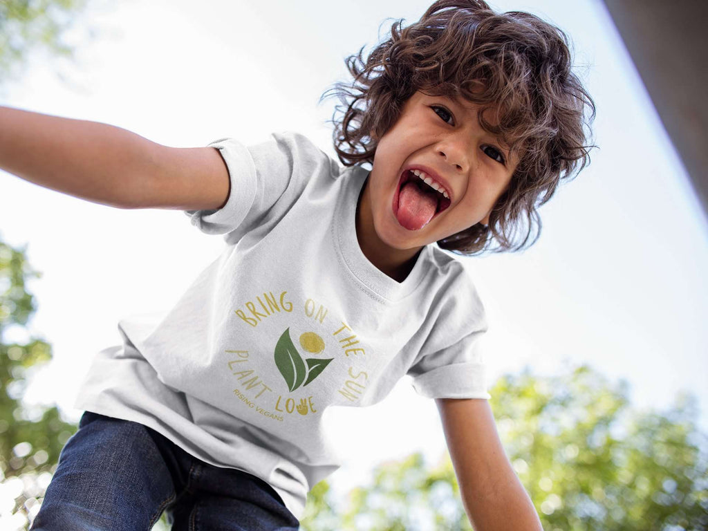 Kid's Bring On The Sun Fine Jersey Tee - Rising Vegans