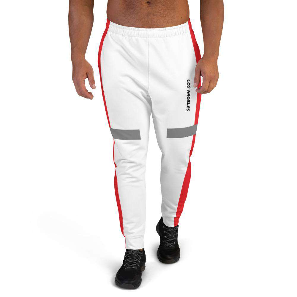 Men's Mason Red Joggers - Rising Vegans