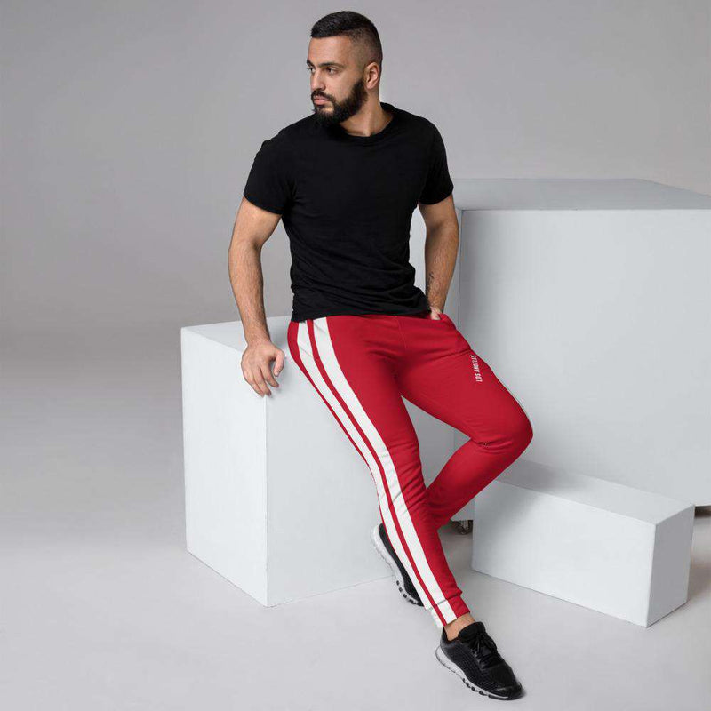 Men's Liam Red Joggers - Rising Vegans