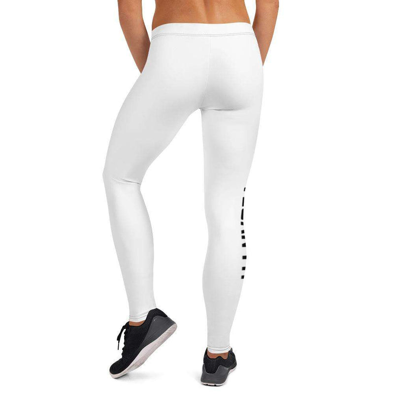 Vegan Fit White Leggings - Rising Vegans