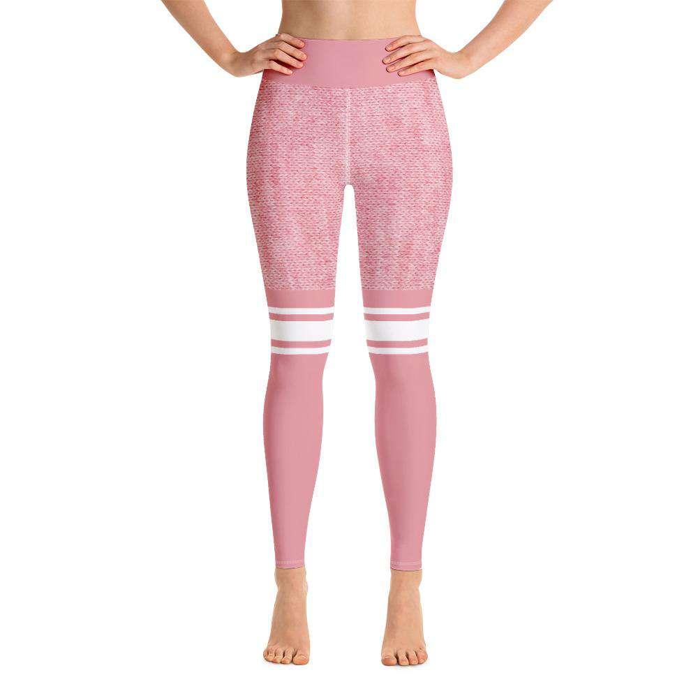 Knit Pink Sport Leggings - Rising Vegans