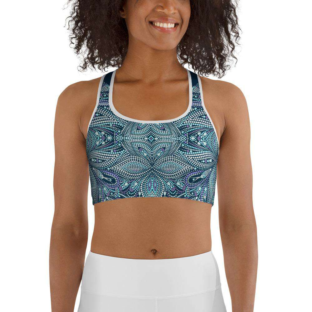 Emerald Mosaic Sports Bra - Rising Vegans