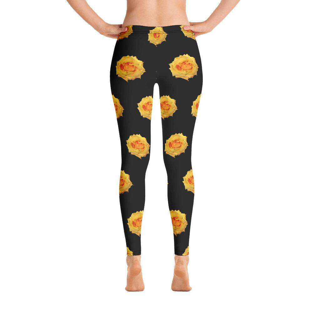 Yellow Rose Leggings - Rising Vegans