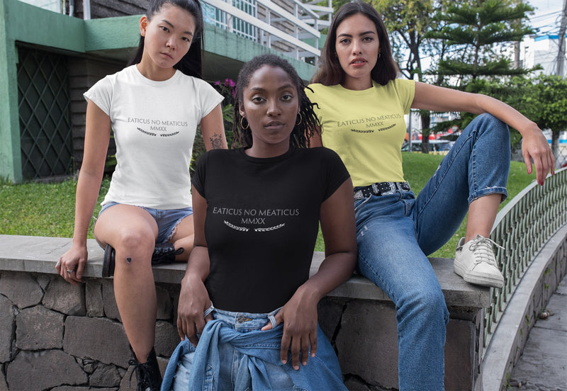 Eaticus No Meaticus Women's Slim Tee - Rising Vegans