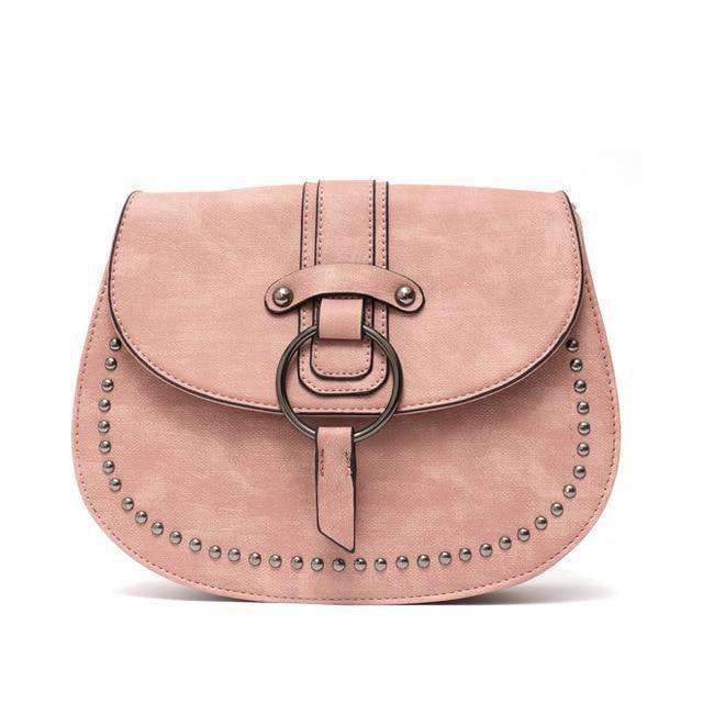 Crossbody Vegan Leather Saddle Bag - Rising Vegans