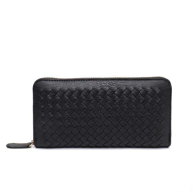 Woven Vegan Leather Wallet - Rising Vegans