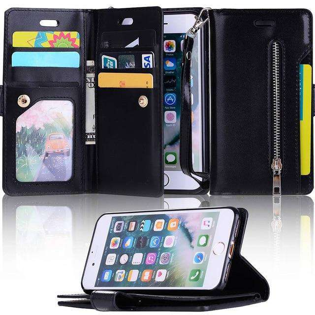 Vegan Leather Flip iPhone Wallet Case for iPhone - Rising Vegans