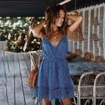 Dot Print Ruffle Mini Sundress - Rising Vegans