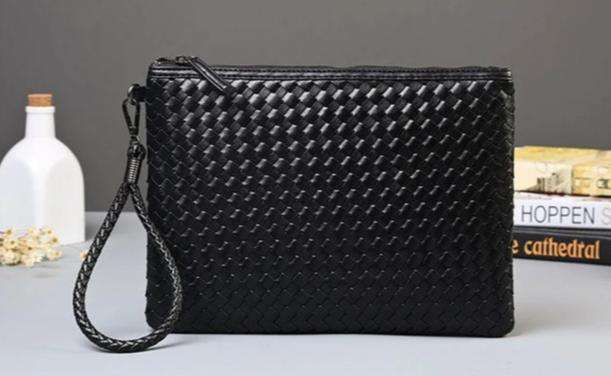 Woven Vegan Leather Clutch - Rising Vegans
