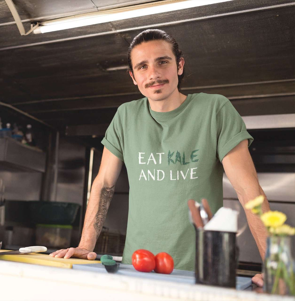 Eat Kale And Live Men's Jersey Tee - Rising Vegans