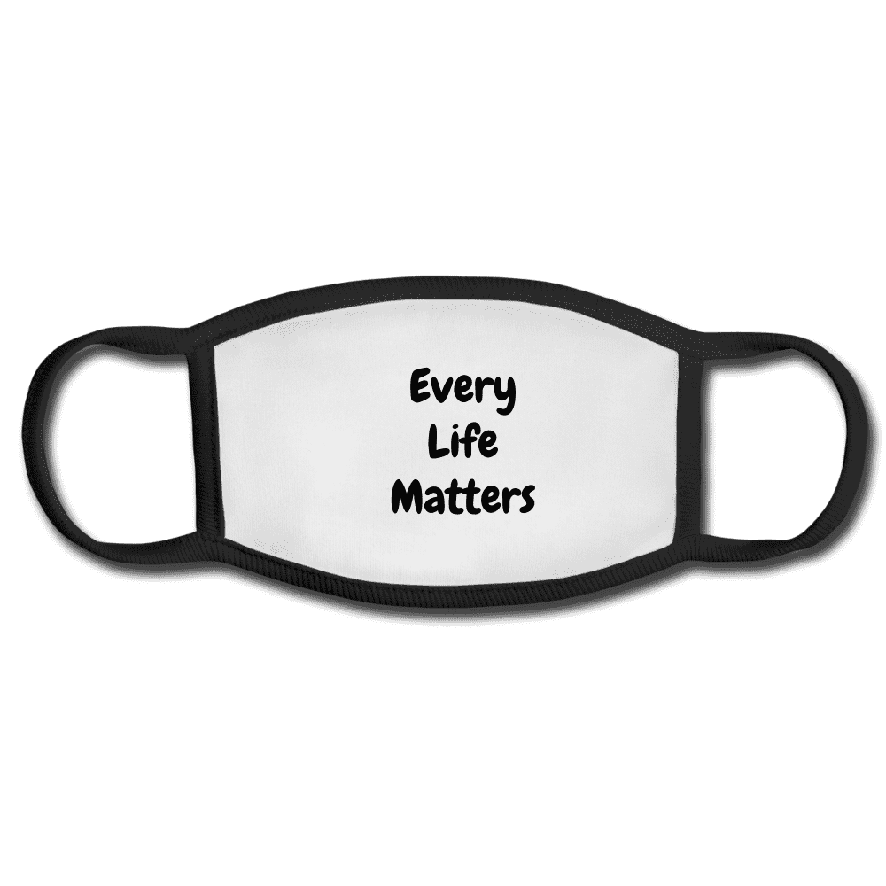 Every Life Matters Cloth Face Mask - Rising Vegans