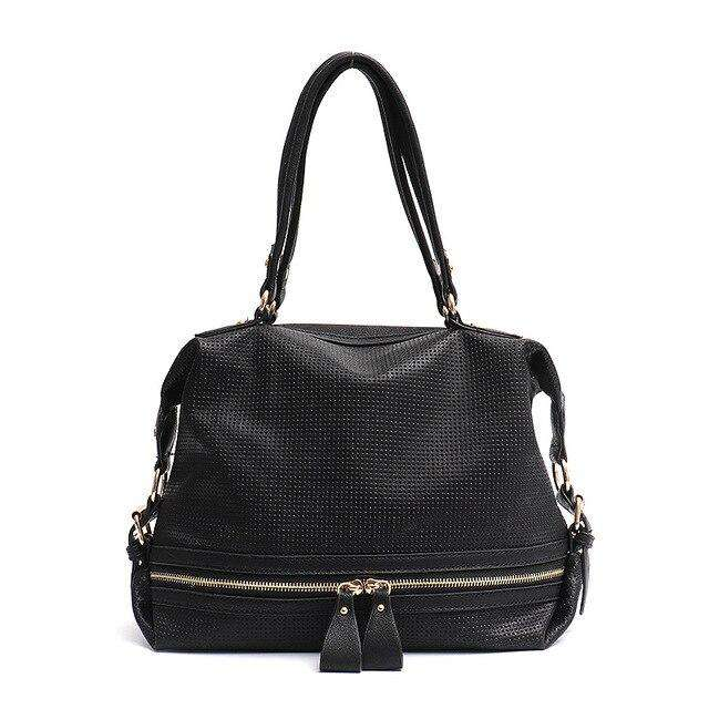 Perforated Vegan Leather Large Handbag - Rising Vegans