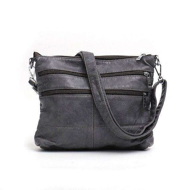 Vegan Leather Double Zip Messenger Bag - Rising Vegans