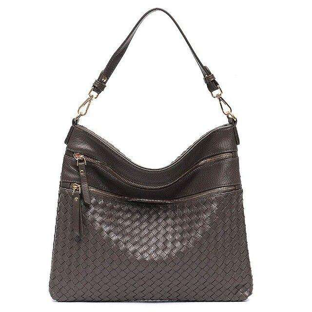 Double Zip Woven Hobo bag