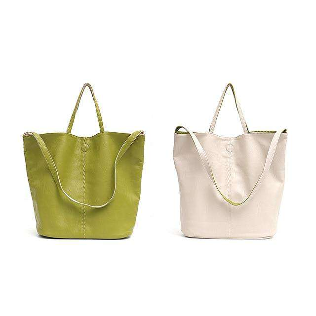Reversible Vegan Leather Tote Bag - Rising Vegans