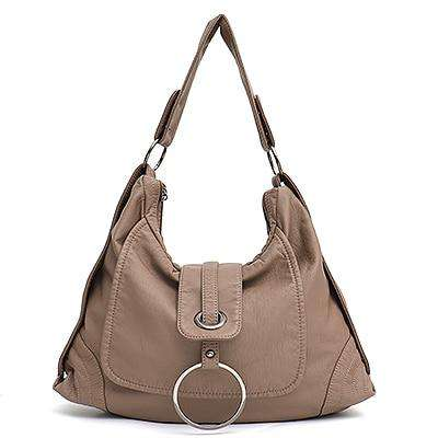 Ring Flap Vegan Hobo Bag - Rising Vegans