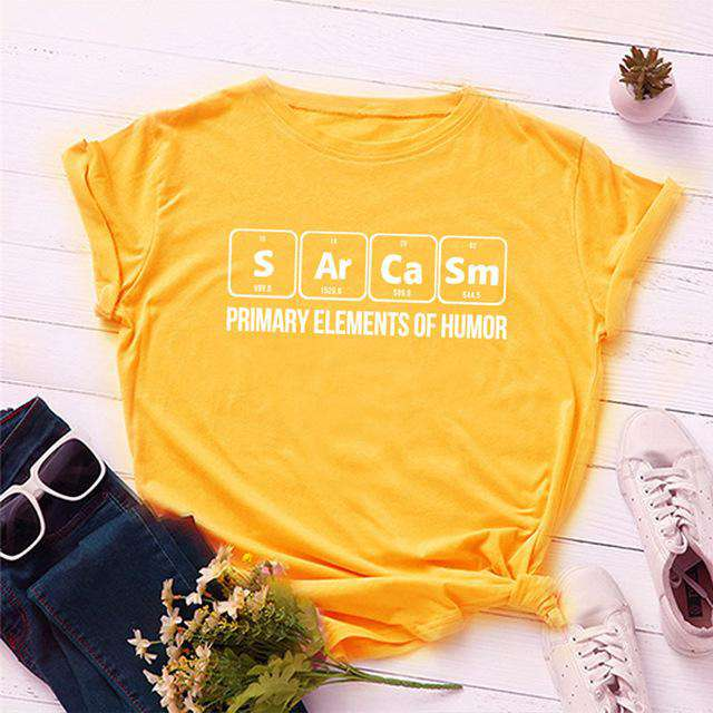 Primary Elements Of Humor Cotton T-Shirt - Rising Vegans