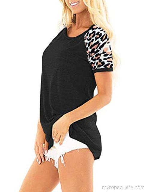 Leopard Print Short Sleeve T-shirt