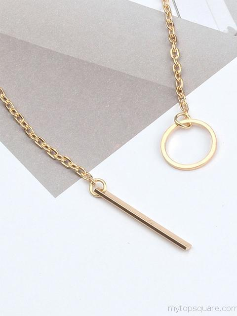 Simple Chain Short Pendant Necklace