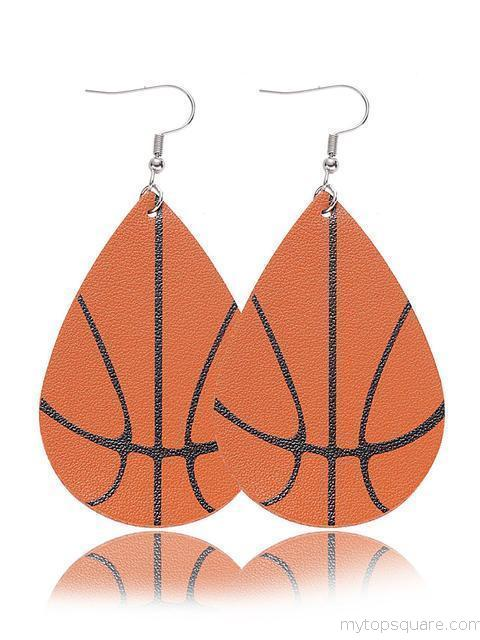 Sports Print Double-layered Earrings