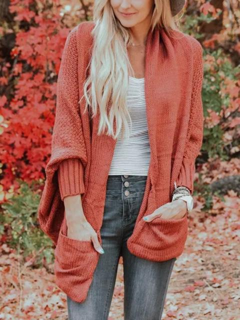 Bat Sleeve Knitted Cardigan Sweater Coat