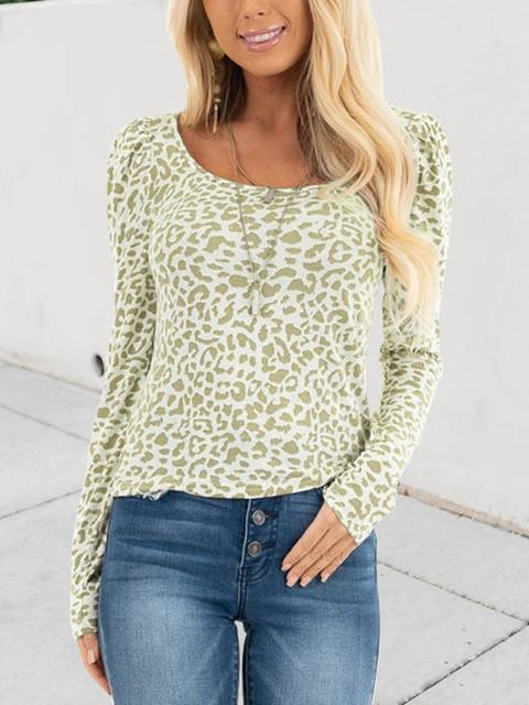 Leopard Pattern Print Shrug Top