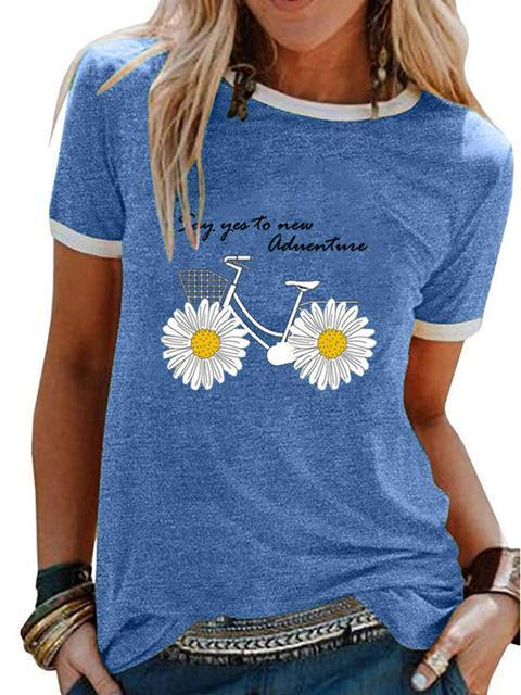 Small Daisy Print Short Sleeve T-shirt
