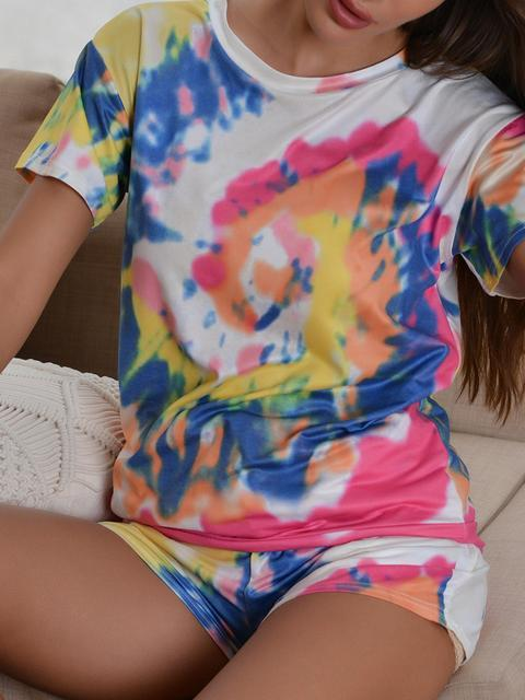 Tie Dye Colorful Print Two Piece Set