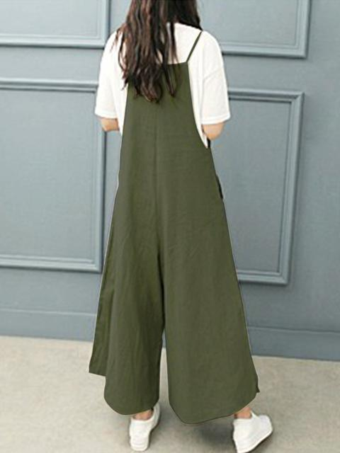 Wide-leg Jumpsuit Casual Loose Pants