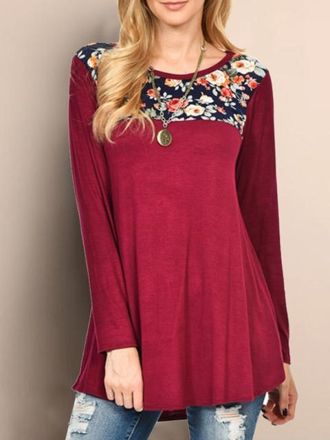 Casual Long Sleeve Blouse Cold Shirt