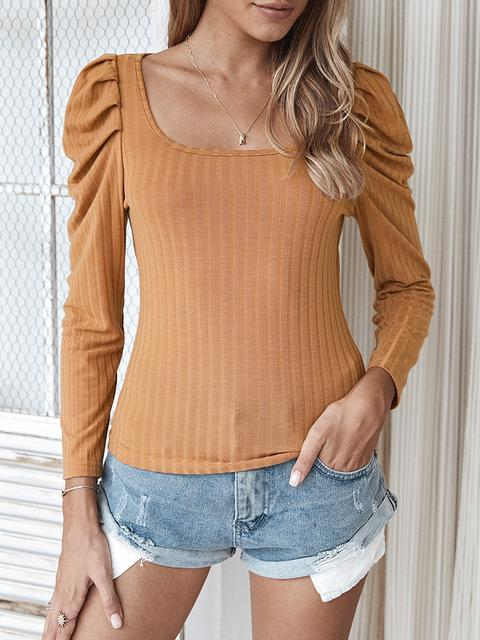 Casual Solid Slim Sweater