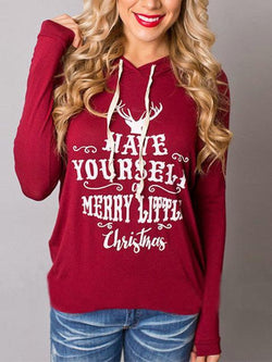 Christmas Merry Little Print Hoodies