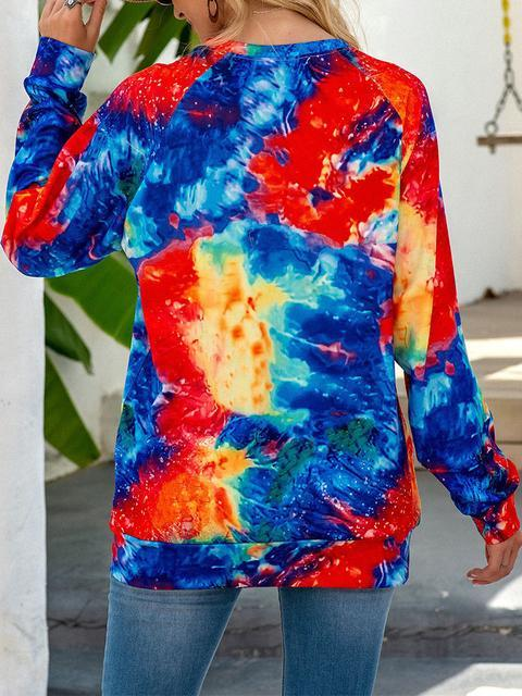 Colorful Tie-dye Long Sleeve Pullover