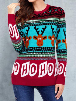Elk Knitted Christmas Ugly Sweater